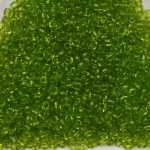 seed beads 12/0 transparent - light  green