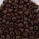 seed beads 6/0 opaque - brown