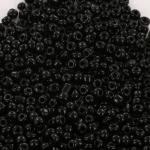 rocailles 6/0 opaque - zwart