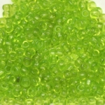 seed beads 8/0 transparent - light green