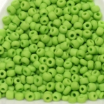 seed beads 8/0 frosted opaque - light  green matte