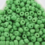 seed beads 6/0 opaque - green