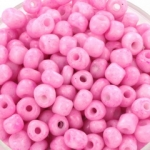 seed beads 6/0 opaque - pink