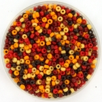 miyuki seed beads 11/0 - mix wildfire