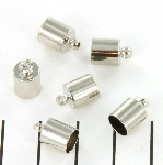 eindkap rond 6 mm - nikkel