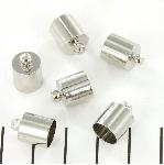 eindkap rond 8 mm - nikkel