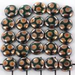 plat rond met cirkels 9 mm - groen met brons