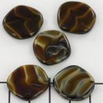 flat round 20 mm - brown