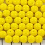 basiskraal rond 8 mm - geel limon