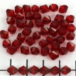acrylic faceted conical 6 mm - red