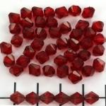 kunststof facet konisch 6 mm - rood
