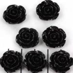 rose 15 mm - black