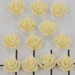 roosje 9 mm - creme wit