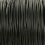 rubberen koord hol 2 mm - zwart