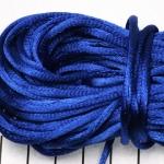 satijnkoord 3.5 mm - blauw