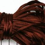 satijnkoord 3.5 mm - donkerbruin rood