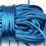 satijnkoord 3.5 mm - turquoise