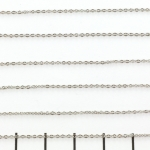 stainless steel schakelketting ovaal - 1 mm