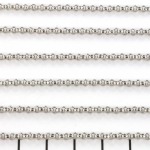 stainless steel chain 2.5 mm - silver