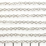 stainless steel chain 3 mm - silver