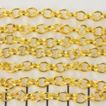 chain oval and roundish 5 mm - gold