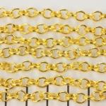 schakelketting ovaal rond 5 mm - goud