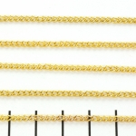 chain round small 2 mm - gold