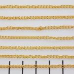 schakelketting fijntjes ovaal 2.4 mm  - goud
