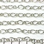 chain oval and round links - 6 mm