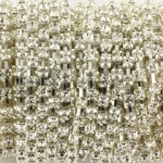 strass chain - 2.7 mm silver