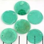 schell thin round flat 20 mm - dark aqua