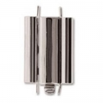 bolt with end cap - silver