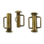 slide clasp magnetic bronze plated - 16.5 mm