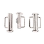 slide clasp magnetic silver plated - 16.5mm