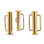 slide clasp magnetic gold plated - 21.5 mm