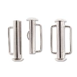 slide clasp magnetic silver plated - 21.5 mm