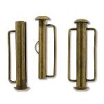 insteekslot slide bar magnetisch brons - 26.5 mm
