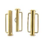 insteekslot slide bar magnetisch goudkleurig - 26.5 mm