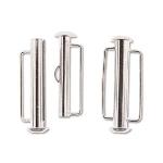 insteekslot slide bar magnetisch lichtzilver - 26.5 mm