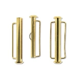 slide clasp magnetic gold plated - 31.5 mm