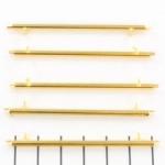 Miyuki slide end tubes voor delica's - goud 60 mm