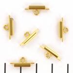 miyuki slide end tubes for delica's - gold 10 mm