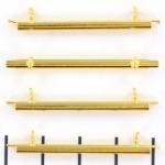 Miyuki slide end tubes voor delica's - goud 35 mm