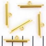 miyuki slide end tubes for delica's - gold 20 mm