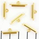 Miyuki slide end tubes voor delica's - goud 15 mm