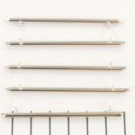 Miyuki slide end tubes voor delica's - lichtzilver 60 mm