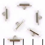 Miyuki slide end tubes voor delica's - lichtzilver 10 mm
