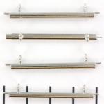 Miyuki slide end tubes voor delica's - lichtzilver 35 mm