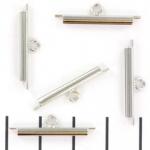 Miyuki slide end tubes voor delica's - lichtzilver 20 mm