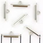 miyuki slide end tubes for delica's - silver 15 mm
